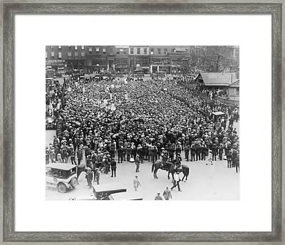 Final Public Protests Against Execution Framed Print by Everett