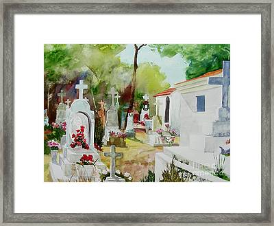 Framed Print featuring the painting Final Resting Place by Tom Riggs