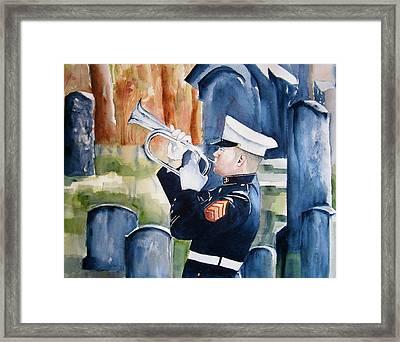 Final Salute Framed Print by Brian Degnon
