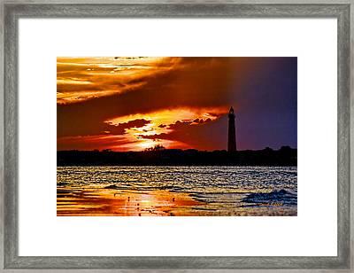 Final Sunset Ponce Lighthouse Framed Print by Stephen  Johnson