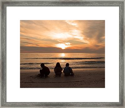 Final Touch Framed Print by Peg Urban