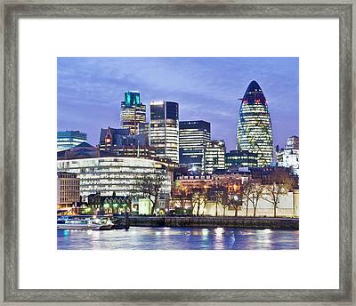 Financial City Skyline, London Framed Print by John Harper