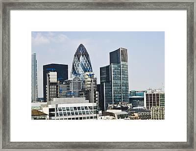 Financial Skyline Of London Framed Print by John Harper