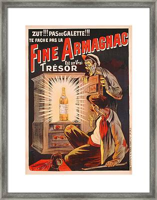 Fine Armagnac Advertisement Framed Print by Eugene Oge