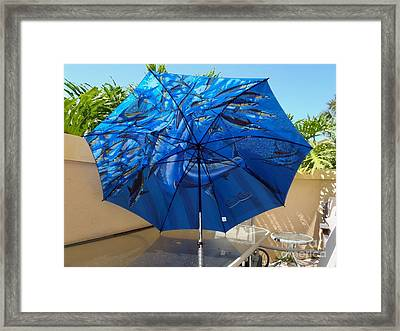 Fine Art Umbrella Framed Print by Carey Chen