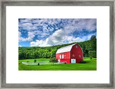 Finger Lakes Barn IIi Framed Print by Steven Ainsworth