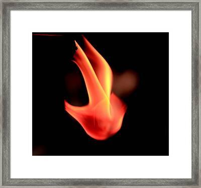 Fingers Of Fire Framed Print by Arie Arik Chen