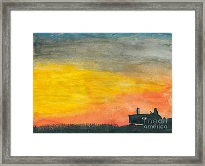 Finishing Up Framed Print by R Kyllo