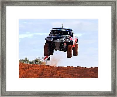 Framed Print featuring the photograph Finke Desert Racer by Paul Svensen