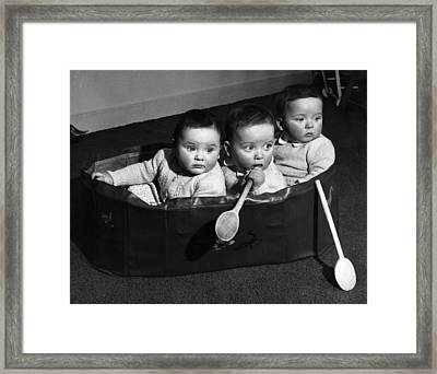Finslater Triplets Framed Print by Housewife