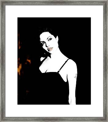 Fire And Eyes Framed Print