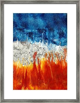 Fire And Ice Framed Print by Paul Tokarski