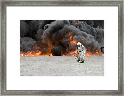 Fire And Rain Framed Print by Glennis Siverson