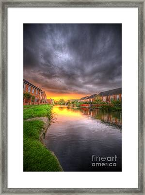 Fire And Storm Framed Print by Yhun Suarez
