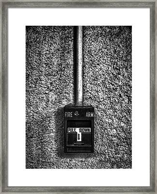 Fire Arm Pull Down Framed Print by Bob Orsillo