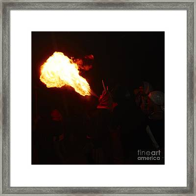 Fire Blower Framed Print by Agusti Pardo Rossello