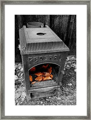 Fire Box Framed Print by Steven Milner