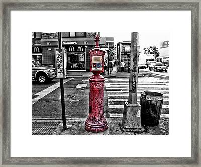 Fire Call Box Framed Print by Bennie Reynolds