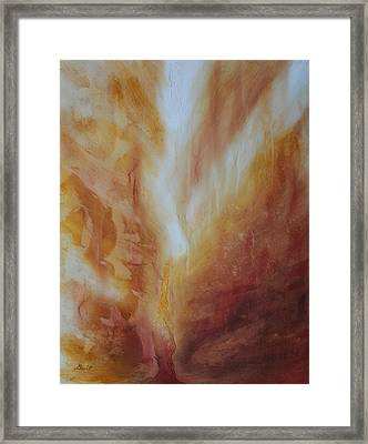 Fire Canyon Framed Print by Gina DeRuggiero