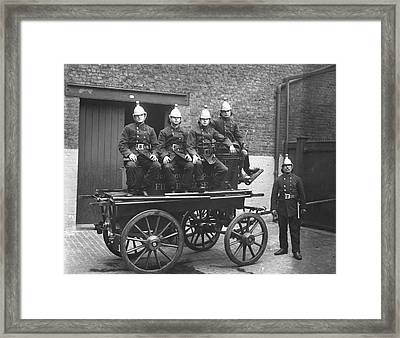 Fire Cart Framed Print by Topical Press Agency