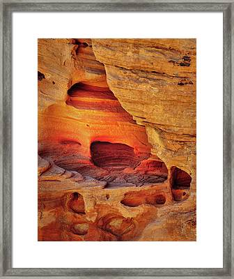 Fire Cave Framed Print