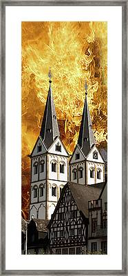 Fire Framed Print by Cecil Fuselier