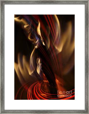 Framed Print featuring the digital art Fire Dance by Johnny Hildingsson