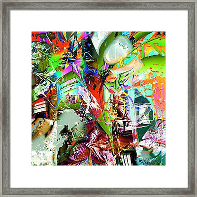 Fire Framed Print by Dave Kwinter