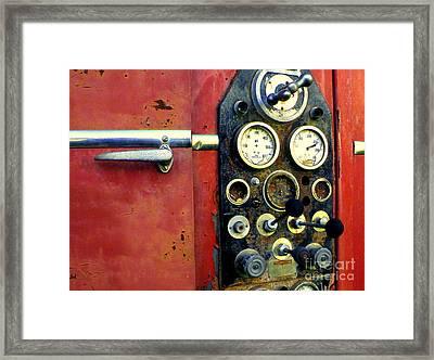 Fire Engine Red Framed Print by Joe Jake Pratt