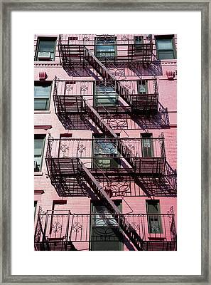 Fire Escape Framed Print by Axiom Photographic