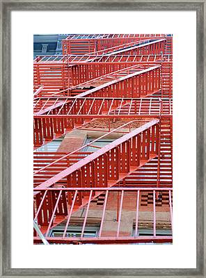 Fire Escape Framed Print by Copyright Eric Reichbaum