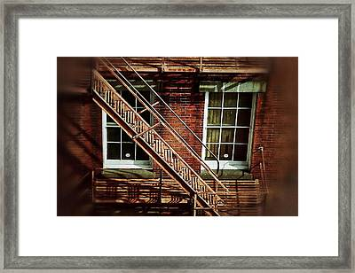 Fire Escape Framed Print