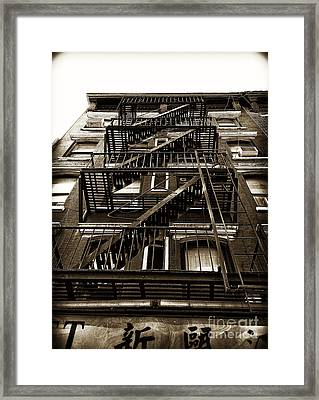 Fire Escape Framed Print by Thanh Tran