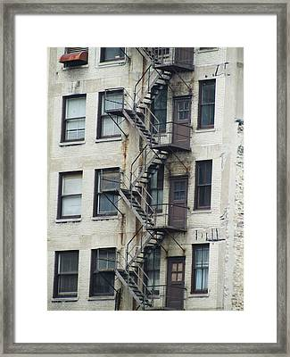 Fire Escape Framed Print by Todd Sherlock