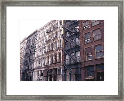 Fire Escapes Color 16 Framed Print by Scott Kelley