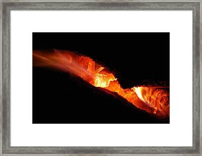 Fire Eyes Framed Print
