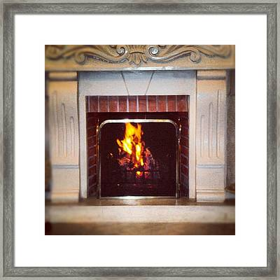 #fire #fireplace #classic #igaddict Framed Print