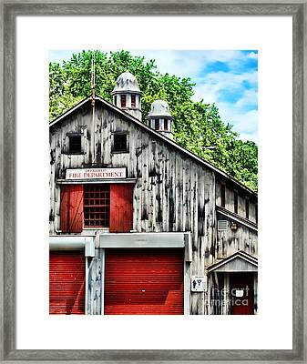 Fire House Framed Print by HD Connelly