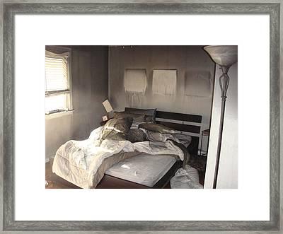 Fire In The Bed Framed Print by Matthew Slowik