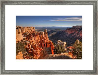 Fire In The Canyon Framed Print