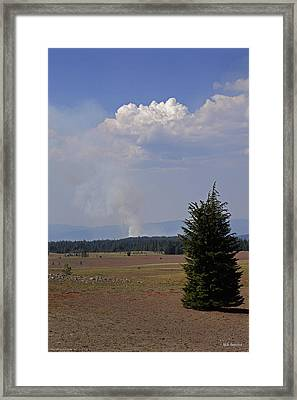 Framed Print featuring the photograph Fire In The Cascades by Mick Anderson