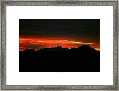 Fire In The Clouds Framed Print by Kevin Bone