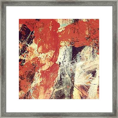 Fire In The Night Framed Print