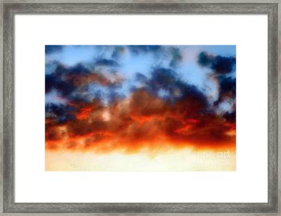 Fire In The Sky Framed Print by Andee Design
