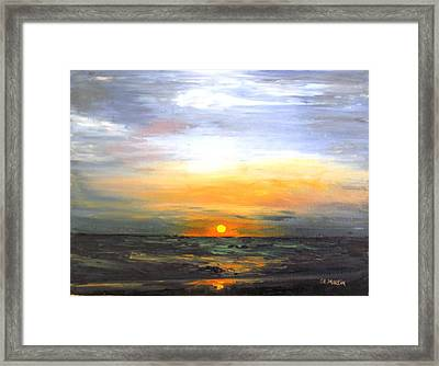 Fire In The Sky Framed Print by Annie St Martin