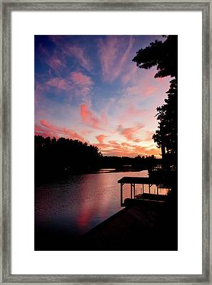 Fire In The Sky Framed Print by Greg Fortier
