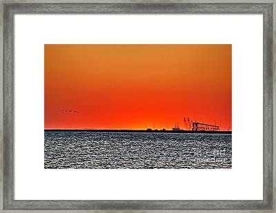 Fire In The Sky Framed Print by Ken Williams