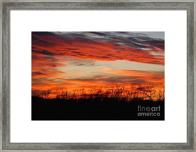 Framed Print featuring the photograph Fire In The Sky by Mark McReynolds