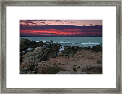 Framed Print featuring the photograph Fire In The Sky by Renee Hardison