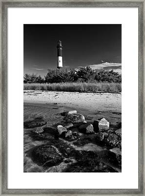 Fire Island In Black And White Framed Print by Rick Berk
